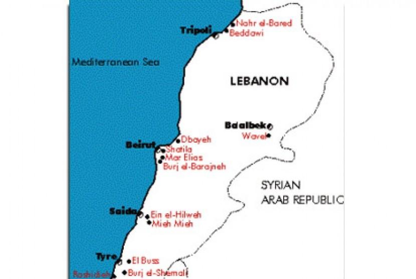 Peta Lebanon.
