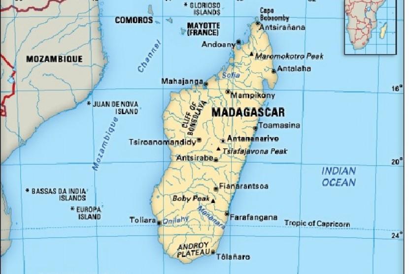 Peta Madagaskar.