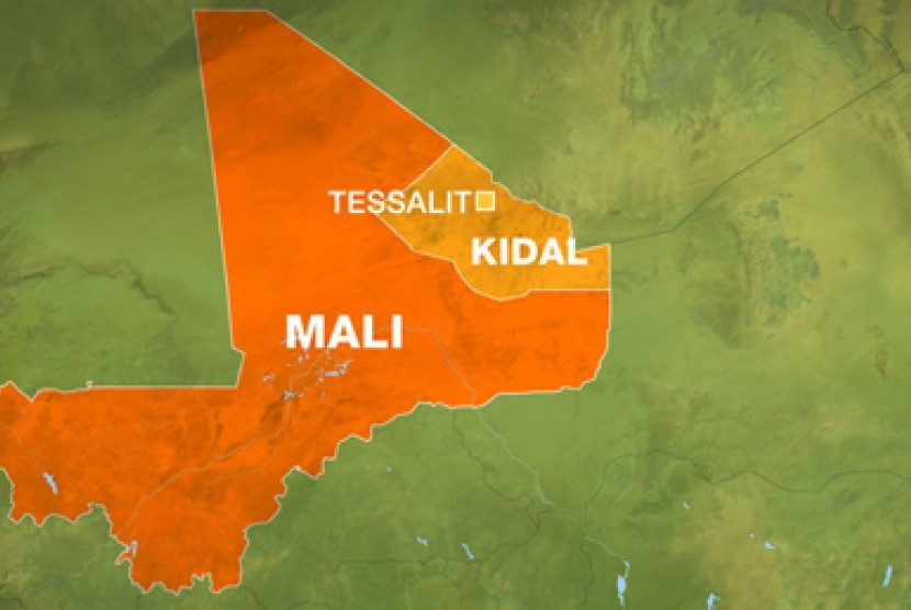 Peta Mali. Ilustrasi