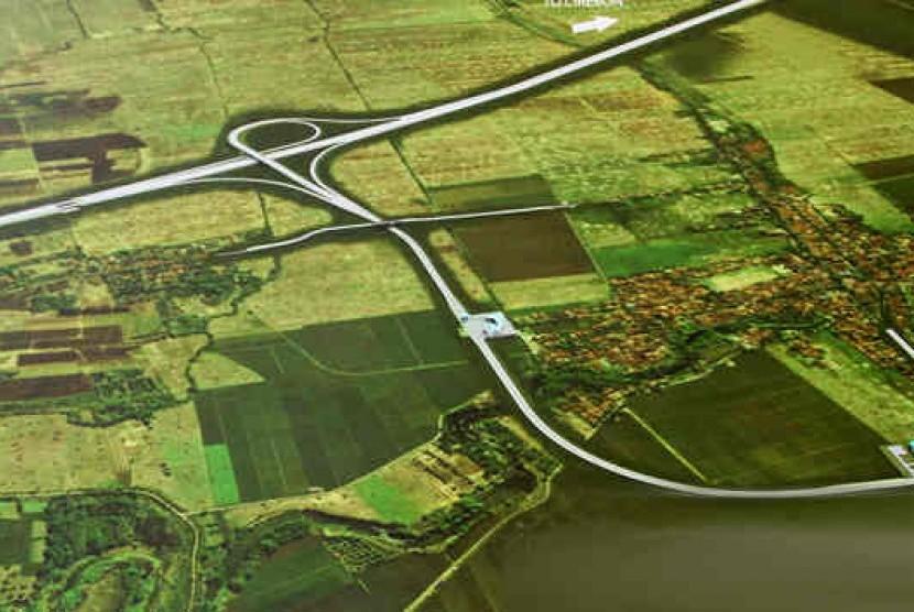 Peta perpindahan tol di kawasan Kertajati (Ilustrasi). Kota Kertajati menjadi salah satu lokasi yang diusulkan menjadi ibu kota baru pengganti Jakarta.