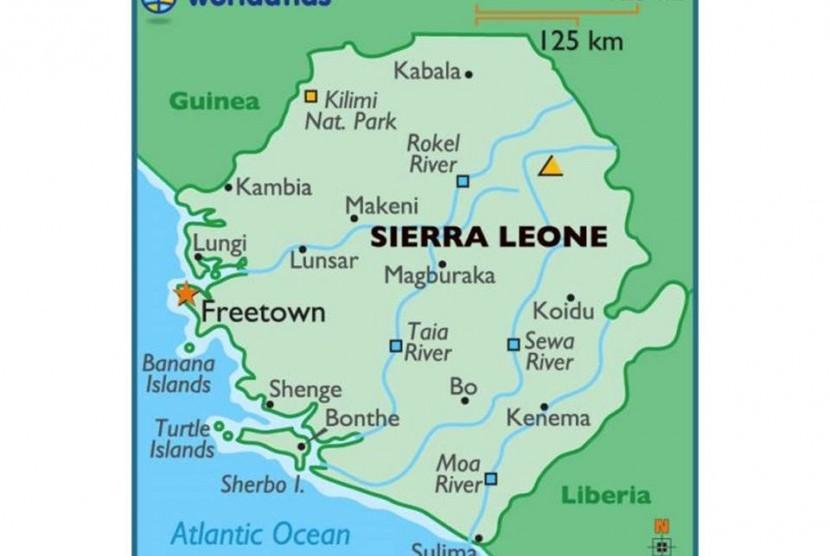 Peta Sierra Leone