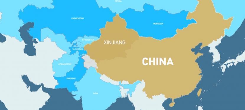 Peta Xinjiang, China