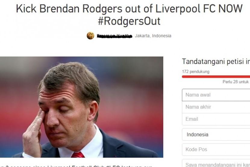 Petisi pecat Brendan Rodgers.