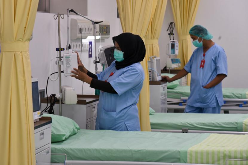 Sebanyak 125 tempat tidur khusus pasien Covid-19 di RS Sultan Suriansyah kosong.