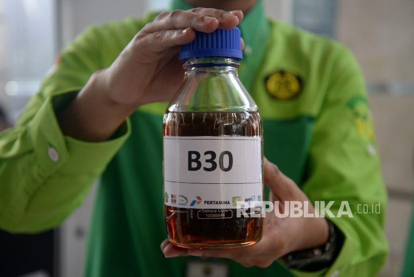 Kementerian ESDM pastikan program B30 berjalan maksimal. Foto B30, (ilustrasi).