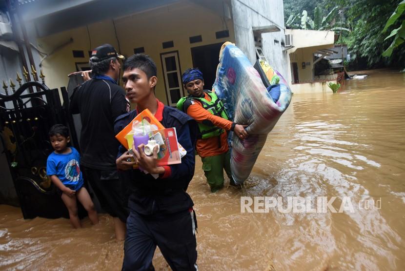 Banjir di Depok. (Ilustrasi)