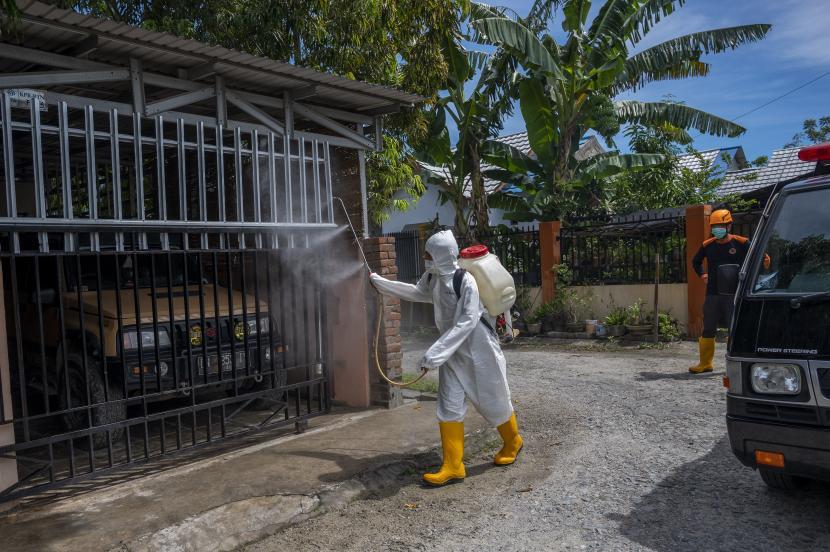 Permintaan Penyemprotan Disinfektan ke BPBD Sukabumi Tinggi (ilustrasi).