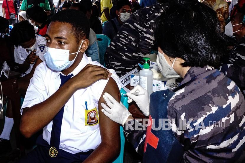 Satgas TNI Layani Vaksinasi Warga di Perbatasan RI-PNG (ilustrasi).