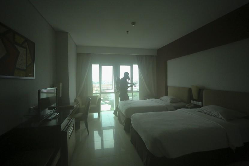 Suasana salah satu kamar hotel di Palembang. (ilustrasi)