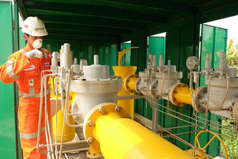 PGN menyalurkan gas untuk mendukung kelistrikan Sumbagsel.