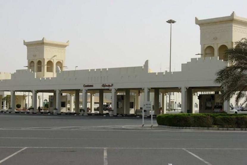 Pintu perbatasan Qatar-Arab Saudi di Salwa.