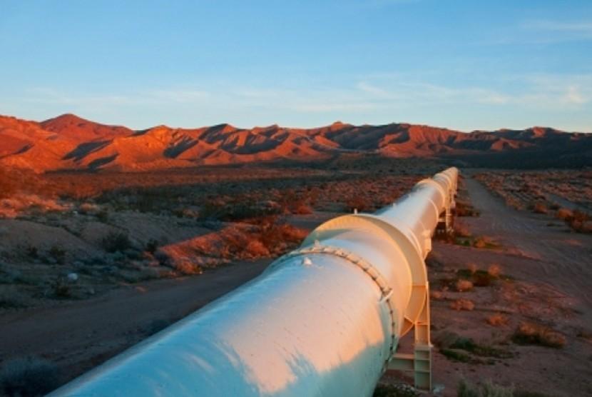 Pipa yang mengalirkan gas alam dari Mesir ke Israel