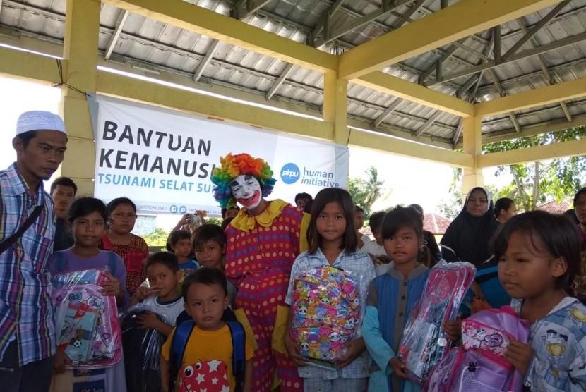 PKPU HI berada di lokasi pengungsian.