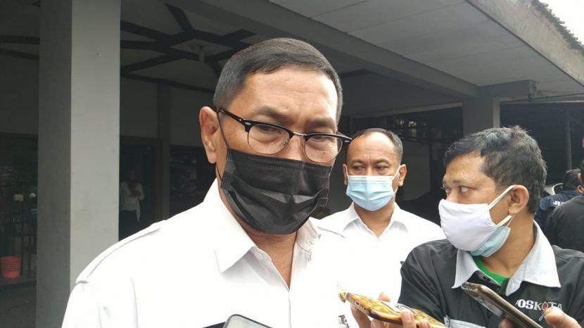 Plt Wali Kota Tasikmalaya, Muhammad Yusuf, saat diwawancara, Rabu (23/6) sore. Saat ini, Yusuf dinyatakan terkonfirmasi positif Covid-19.
