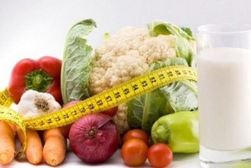 Pola makan teratur dengan menu sehat (ilustrasi)
