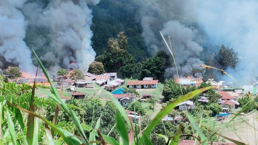 Polda Papua sebut KKB Bakar SD, Puskesmas dn Pasar Kiwirok di Pegunungan Bintang