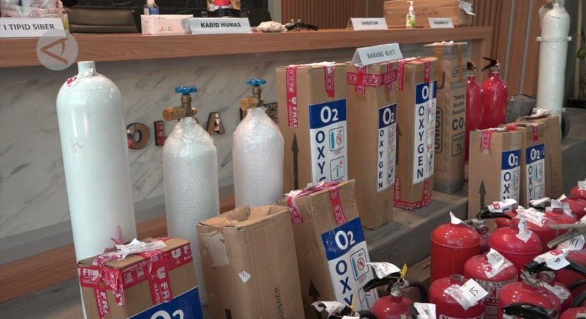 Polisi berhasil mengungkap penjualan tabung APAR yang dijadikan tabung oksigen.