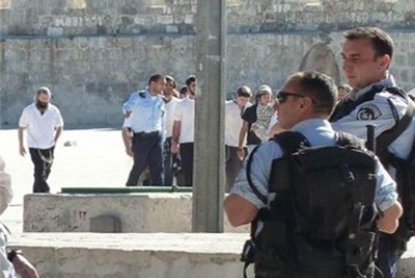 Polisi Israel di Yerusalem Timur.
