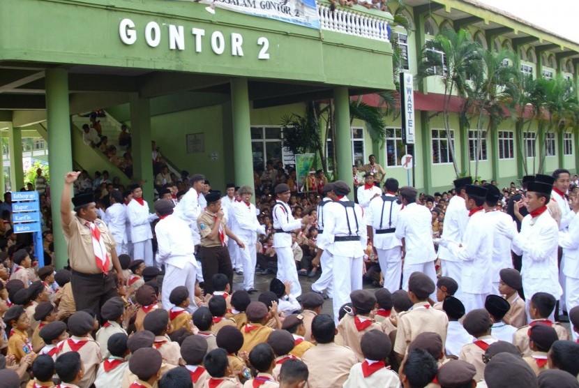 Suasana di Pondok Modern Gontor.