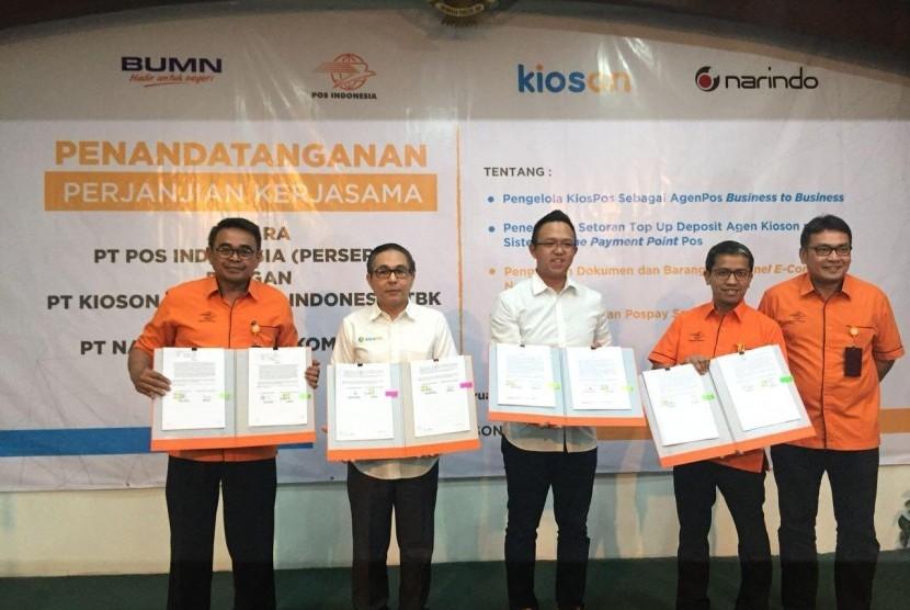 Pos Indonesia-Kioson  Luncurkan Kios-Pos