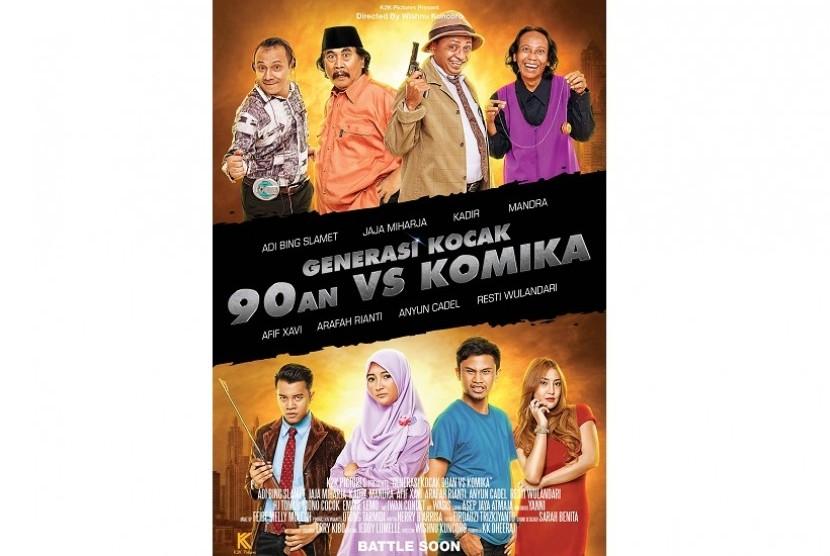 Poster film Generasi Kocak: 90-an vs Komika