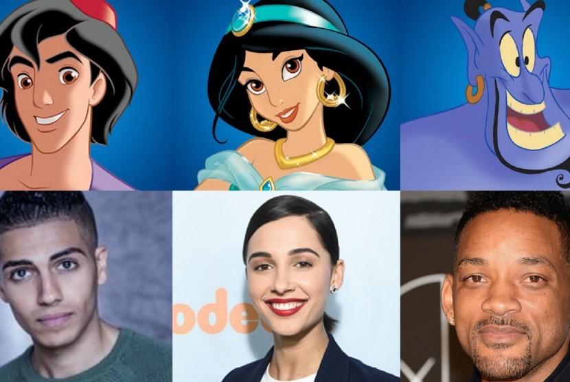 Poster pemain film Aladdin.