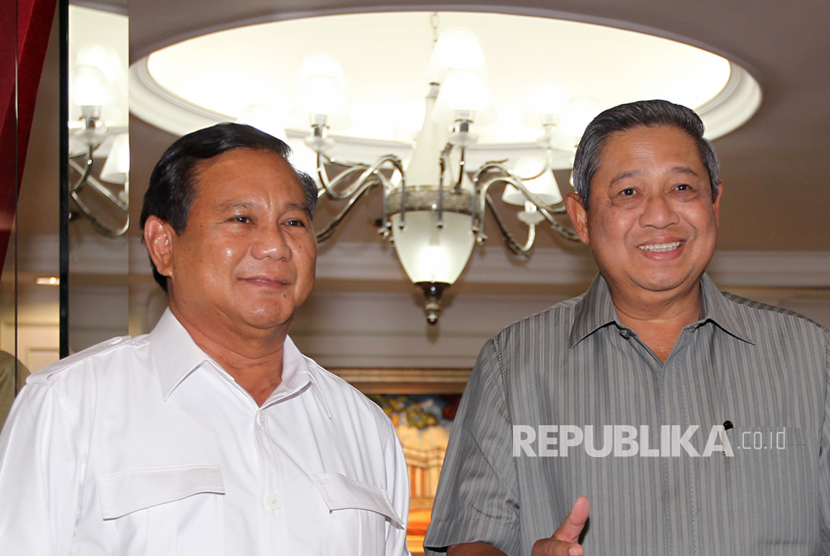 Prabowo dan Susilo Bambang Yudhoyono (SBY)