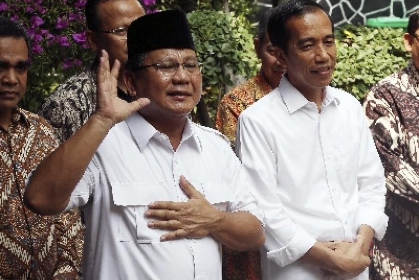Prabowo Subianto dan Jokowi.