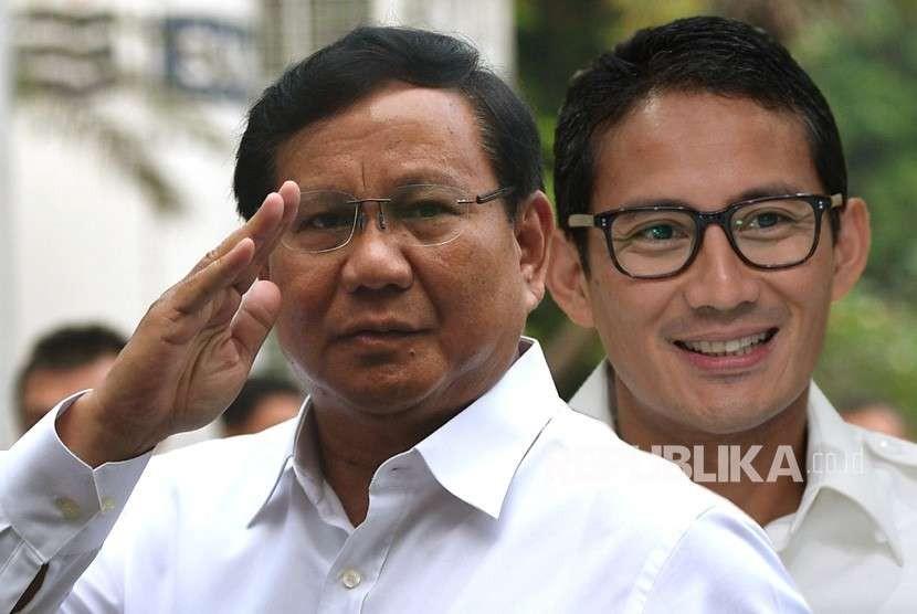 Prabowo Subianto dan Sandiaga Uno