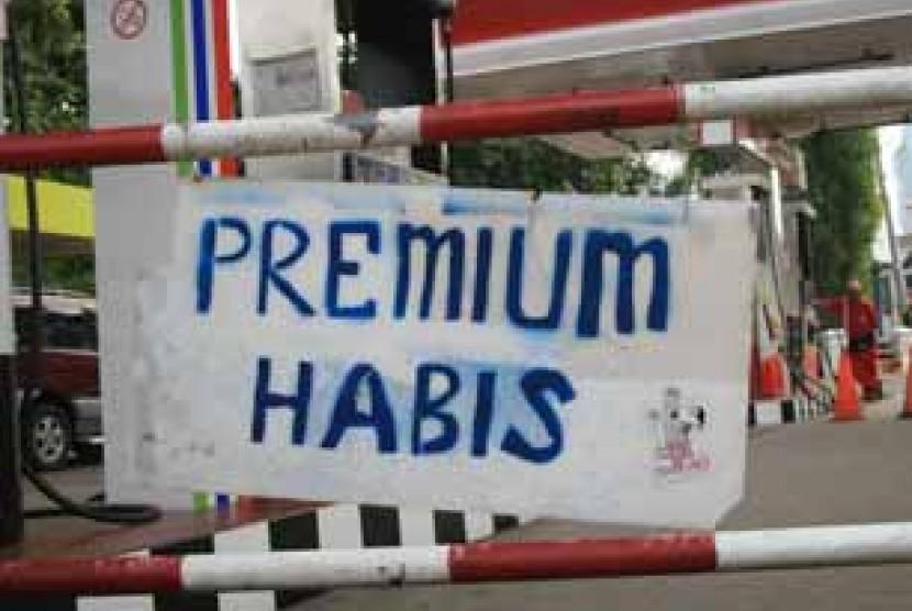 Premium habis - ilustrasi