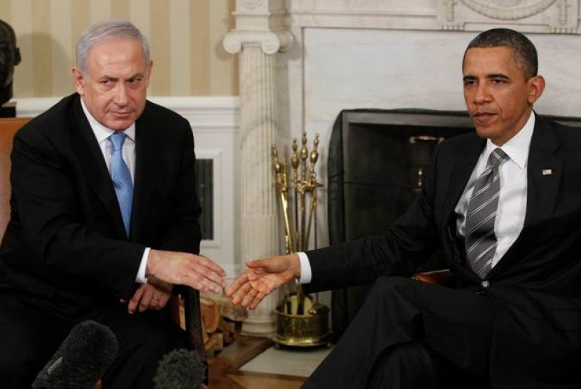 Presiden Amerika Serikat (AS) Barack Obama dan Perdana Menteri Israel Benjamin Netanyahu