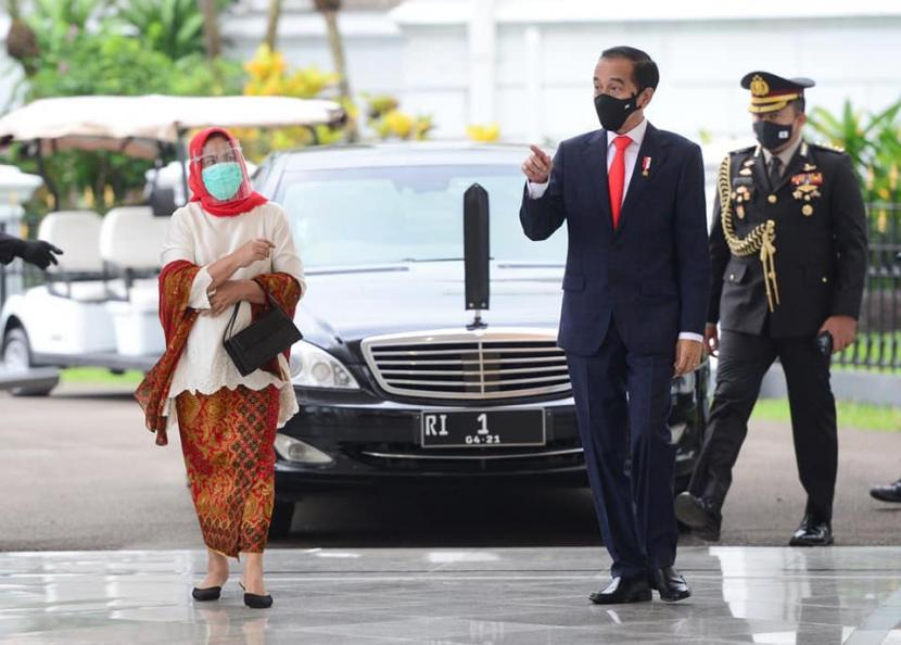 Presiden Joko Widodo (Jokowi) beserta Ibu Negara Iriana