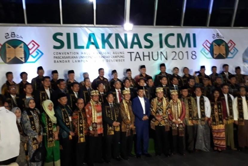 Presiden Joko Widodo membuka Silaknas ICMI di Bandar Lampung, Lampung, Kamis (6/12).