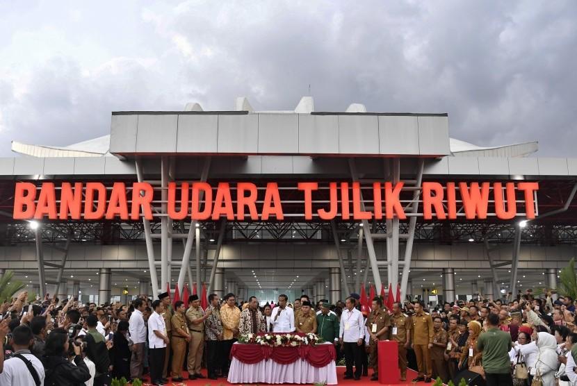 Terminal Baru Bandara Tjilik Riwut di Kota Palangkaraya, Kalimantan Tengah.