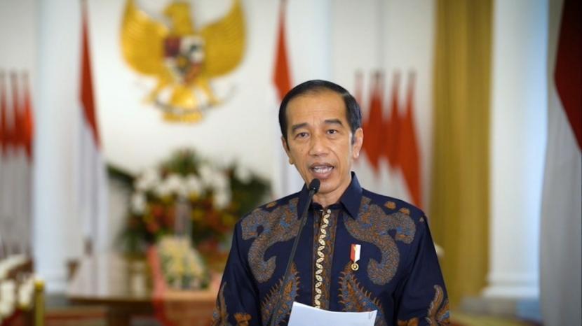 Presiden Joko Widodo mengajak masyarakat untuk memperkuat Pancasila. (ilustrasi).