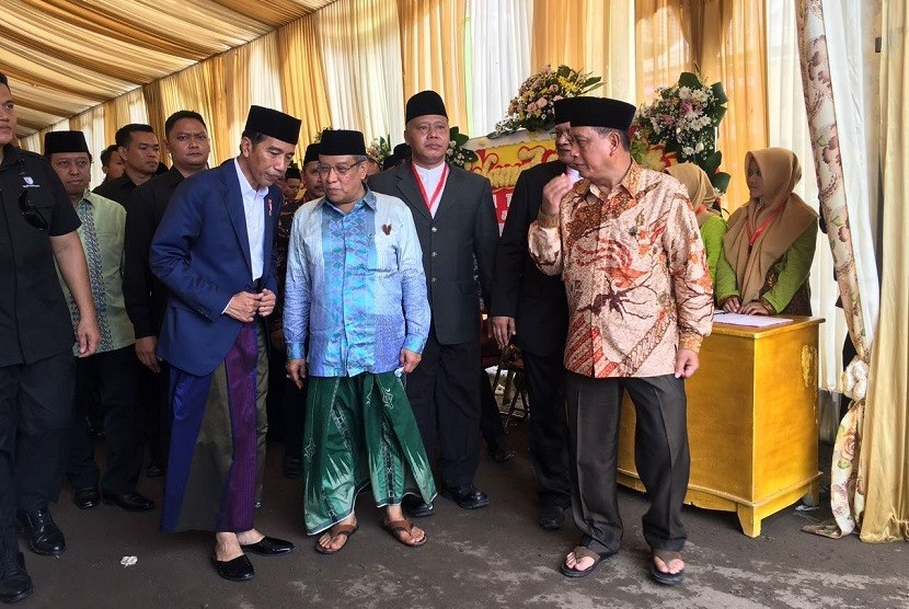 Presiden Jokowi dan Ketua Umum PBNU Said Aqil Siradj.