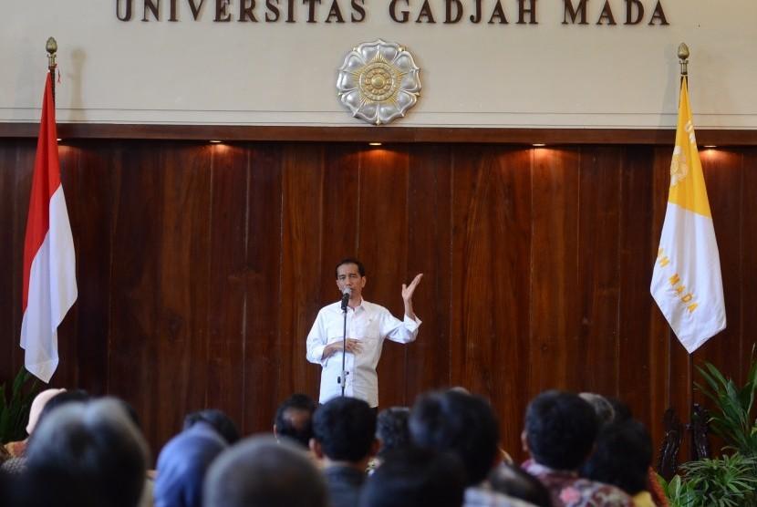 Presiden Jokowi di UGM, Yogayakarta.
