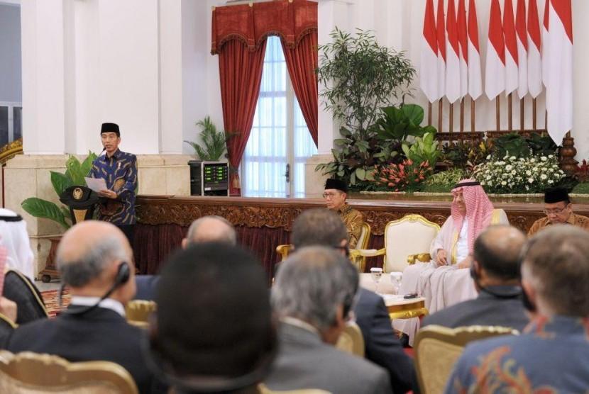 Presiden Jokowi minta umat Islam Indonesia menularkan pengalamannya kepada dunia (Foto: Istimewa)