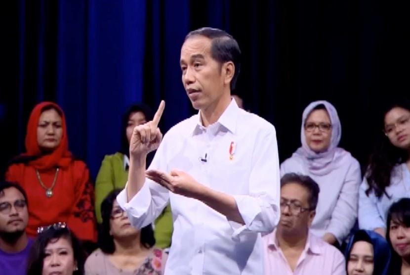 Presiden Jokowi saat berbicara di program Visi Presiden