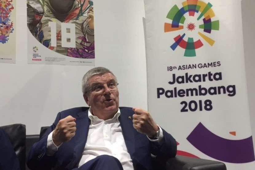 Presiden Komite Olimpiade Internasional (IOC) Thomas Bach