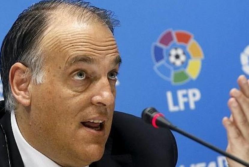 Presiden La Liga Javier Tebas