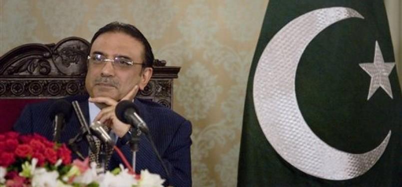 Presiden Pakistan, Asif Ali Zardari.