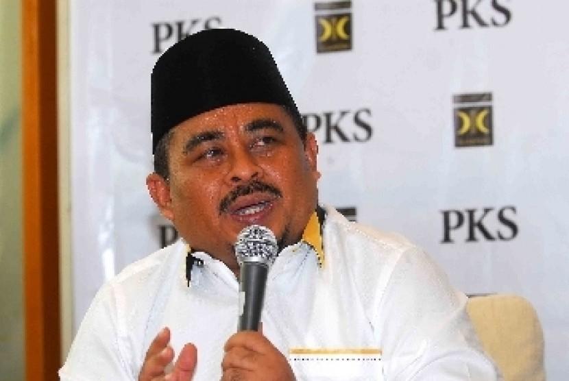 Presiden Partai Keadilan Sejahtera (PKS), Luthfi Hasan Ishaaq.
