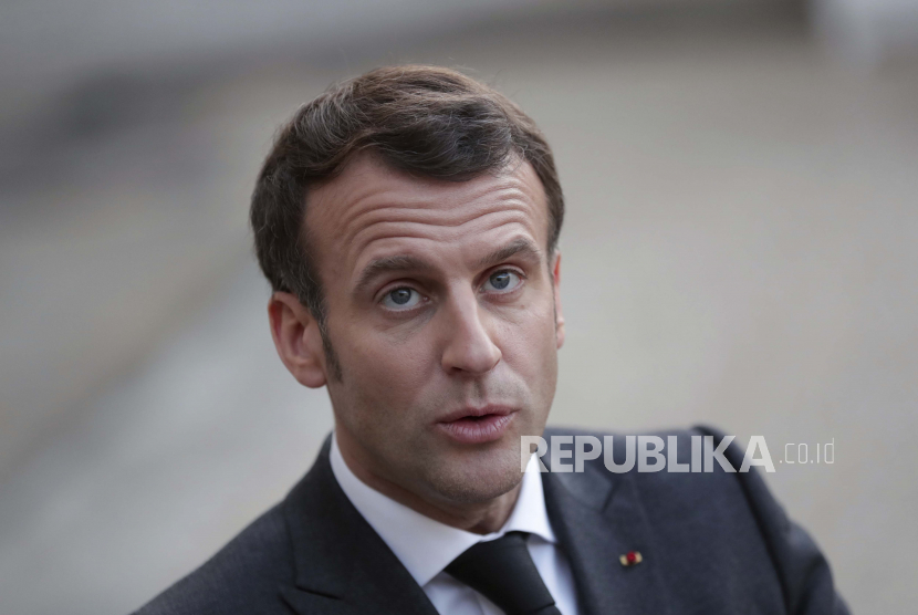 Pria Penampar Macron Dipenjara Empat Bulan. Presiden Prancis Emmanuel Macron.