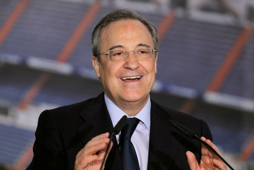 Presiden Real Madrid Florentino Perez.