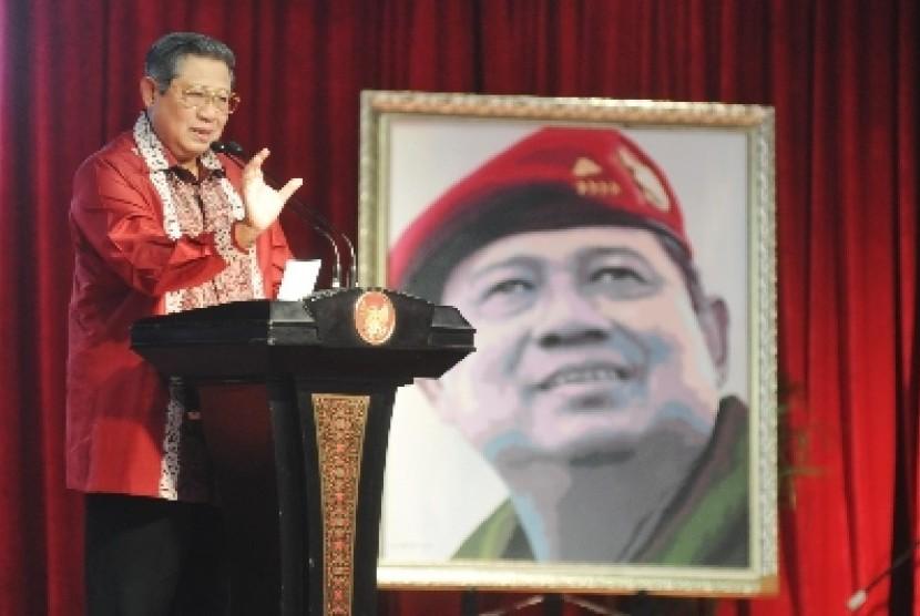 Presiden SBY saat peresmian Museum Hakka di kawasan Anjungan Taman Budaya Tionghoa, Taman Mini Indonesia Indah (TMII), Sabtu (30/8).