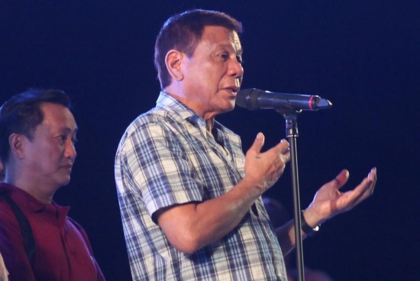 Presiden terpilih Filipina Rodrigo Duterte