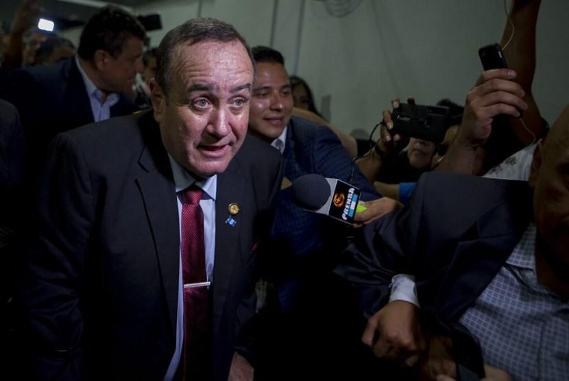 Presiden terpilih Guatemala, Alejandro Giammattei.