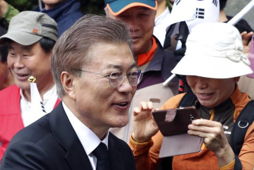Presiden terpilih Korea Selatan Moon Jae-in.