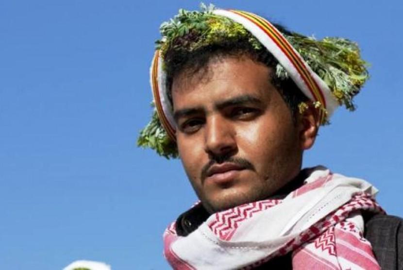 Pria Bunga di Provinsi Asir Arab Saudi